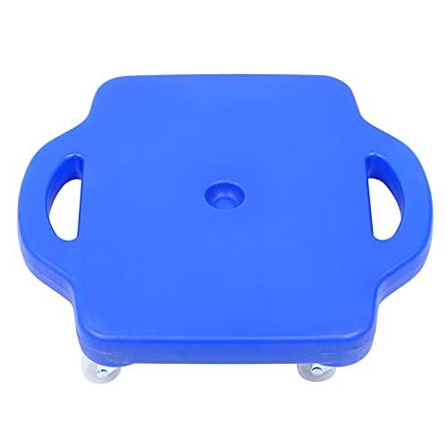 BESPORTBLE Tabla de Scooter con Ruedas Y Mango de Seguridad para Equipos de Educación Física en El Hogar Suministros 43X40cm Azul