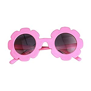 Gafas de sol redondas con protección UV, coloridas gafas de sol para niños de 0 a 8T - Rosa - 0-8 años