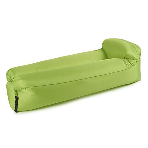 BOT Sofá Hinchable, Sofá Reclinable Inflable, Tumbonas Plegables,Tumbona Inflable Terraza,Tumbona Inflable Exterior,Sofa Hinchable para Exterior para Viajar, Camping (Color : Green, Size : L)