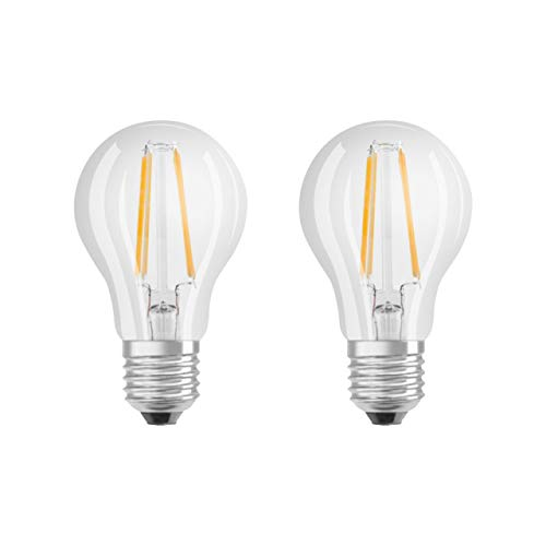 OSRAM LED STAR CLASSIC A 100 FS Warmweiss Filament Klar E27 Gluehlampe Doppelpack