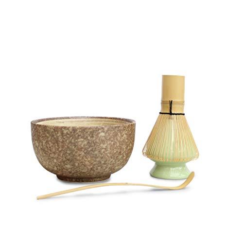 Matcha Teeschalen-Set, 4-teilig Braun gesprenkelt