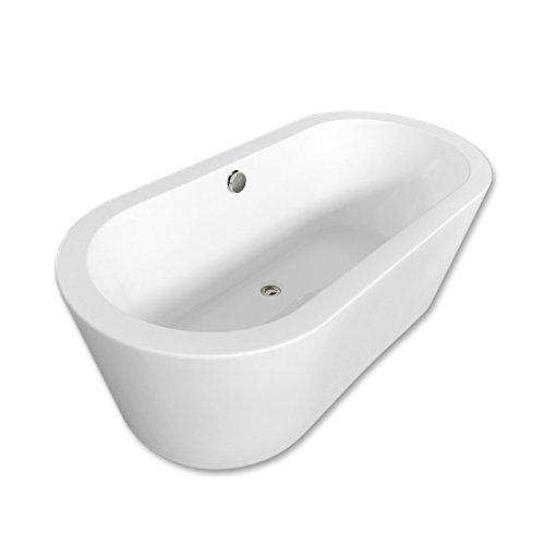 Freistehende Badewanne 170 x 80 cm Modernes und Innovatives Design CLEOPATRA