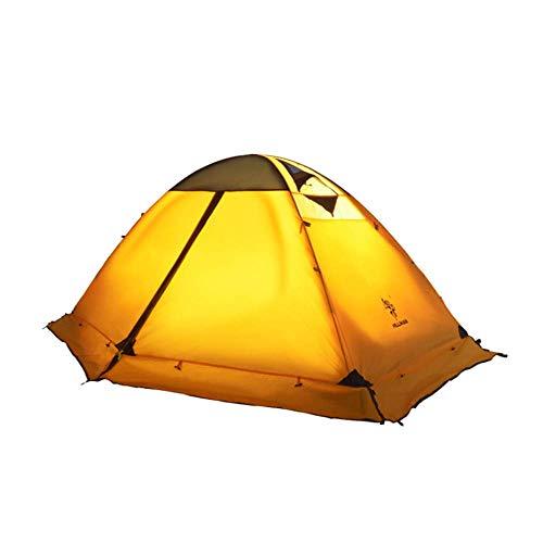 Double tenten, outdoor camping camping tent, dubbel stapelbed, aluminium paal wind en water-apparatuur