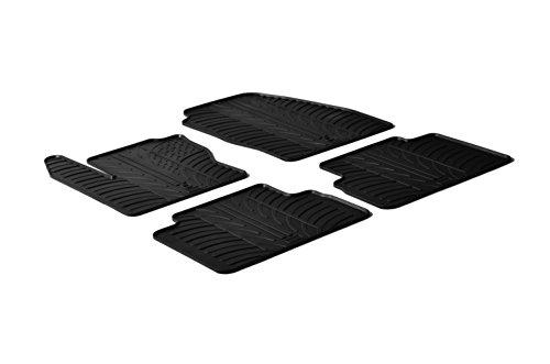 Gledring 0285 Alfombrillas de Goma Compatible con Ford C-MAX 2010-2014 (Perfil T 4-Partes + Clips de Montaje)