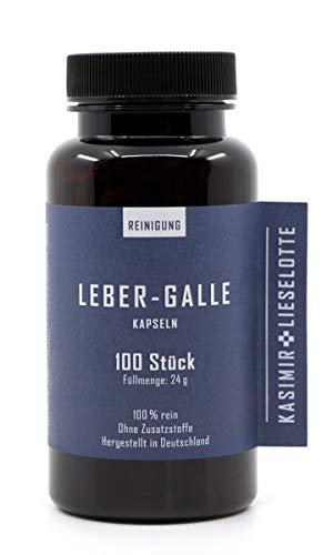 LEBER-GALLE KAPSELN 100 Stück - Löwenzahnkraut, Löwenzahnwurzel, Mariendistel, Schafgarbe & Odermennig