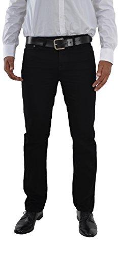 F2 Herren Jeans Hose Straight Leg gerader Schnitt NEU Blue Petrol Jeanshose W30 bis W42 verfügbar (W34/L34, Schwarz/Black)