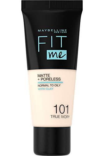 Maybelline New York Fit me! Matte & Poreless Make-up Nr. 101 True Ivory, 30 ml