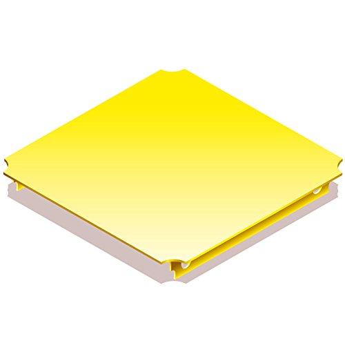Quadro 00404 - Platte 40 x 40 cm gelb