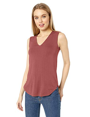 Daily Ritual Jersey V-Neck Tank-Top-And-Cami-Shirts, Rosa Cipria, US XL (EU 2XL)