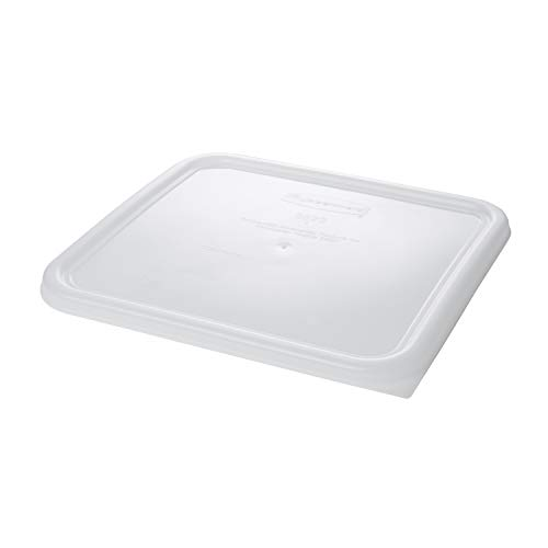 Rubbermaid Commercial Products Large Lid For 12, 18, And 22 Qt. Plastic Space Saving Square Food Storage Container (Fg652300Wht)