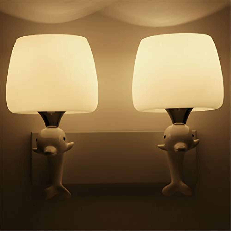 Lampe 3W   5W   9W LEDWall Lampe Schlafzimmer Nachttischlampe Moderne minimalistische Gang Treppenhaus Wandleuchte Beleuchtung Wandlampe, 9W, Doppelkopf