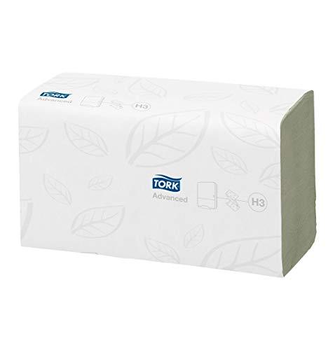 TORK® Advanced grün, Falthandtücher, 2-lagig, mit Zickzackfalzung, weich, saugfähig, 3750 Stück