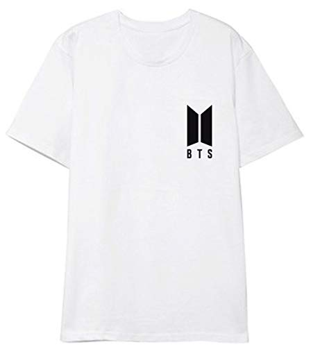 SERAPHY KPOP Camiseta Unisex Love Yourself Camiseta Tshirts Linda Jin Jimin Jung Kook J-Hope Rap-Monster V Blanco M