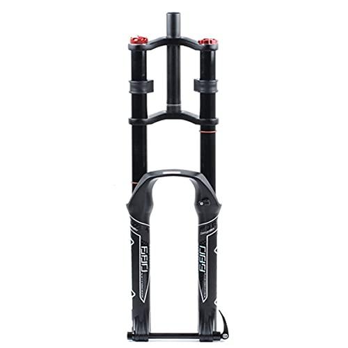 CHICTI Eje De Cangilones Horquilla De Suspensión, 26/27.5 / 29in Bicicleta Tenedor Frontal, Ajustable Mojadura Diseño, Recorrido De 135 Mm Repuestos (Size : 29inch)