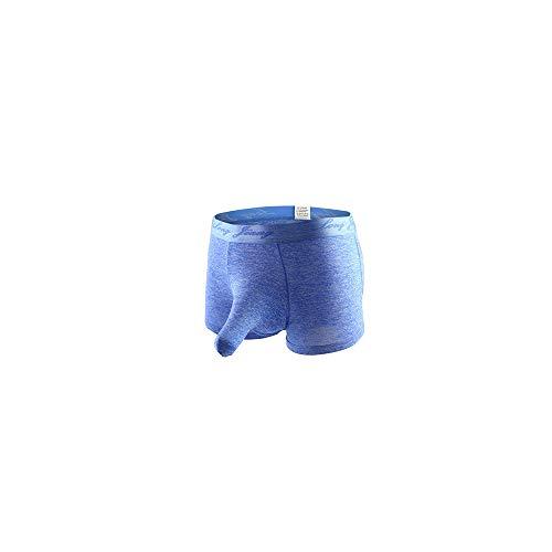 Celucke Herren Boxershorts EIS Seide Einfarbig Transparent, Männer Unterwäsche Slip Atmen Shorts Unterhose Bequem Briefs
