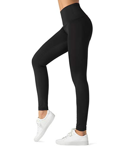 Dragon Fit Compression Yoga Pants with 4 Inner Pockets in High Waist Athletic Pants Tummy Control Power Stretch Workout Yoga Leggings (Small, Black-2 Inner Pockets)