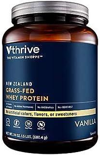 New Zealand GrassFed Whey Protein Powder, Vanilla, 25g of Protein per Serving, No Gluten, 17 Servings by Vthrive