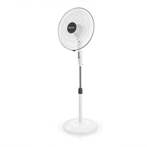 Messh SFZ 6000 Staande ventilator, 3 snelheden, halftransparante vleugels, diameter 40 cm, vermogen 45 W, oscillerende beweging