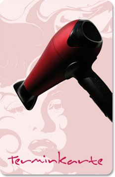 Terminkarten (100 Stück) für Friseur, Hairstyling, Haarstudio - Terminkarte