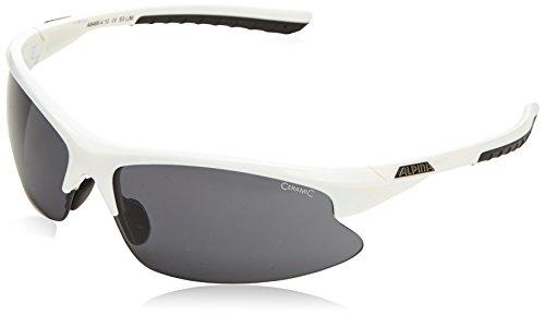 Alpina Sonnenbrille Amition DRIBS 2.0 Fahrradbrille, Fassung: White/Black Gläser: Black S3, One size