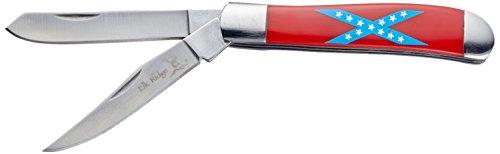 Elk Ridge ER-220 Serie, GENTLEMEN Taschenmesser Griff ROT CSA, 5,08 cm Outdoormesser rostfreie DOPPEL Klinge für Angeln/ Camping, leichtes 82gr Klappmesser