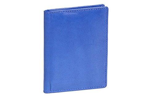 Caja de Piel para DNI Tarjetero para DNI Tarjetero para Tarjetas de crédito LEAS, Piel auténtica, Azul Claro - ''LEAS Card-Collection''