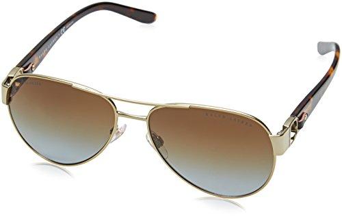 Ralph Lauren 0Rl7047Q Gafas de sol, Shiny Pale Gold, 58 para Mujer