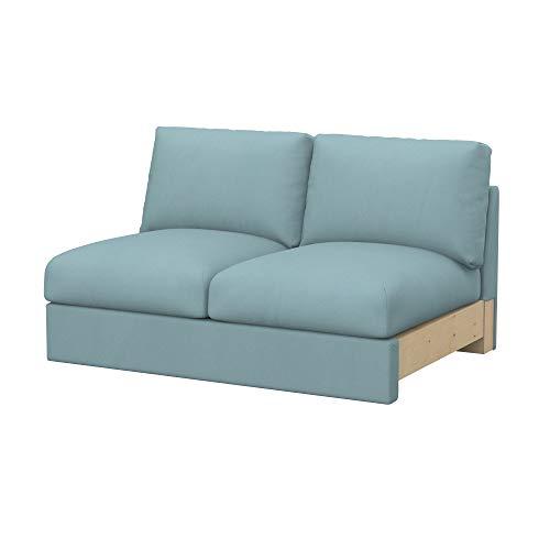 Soferia Funda de Repuesto para IKEA VIMLE módulos sofá Cama de 2 plazas, Tela Eco Leather Mint, Verde