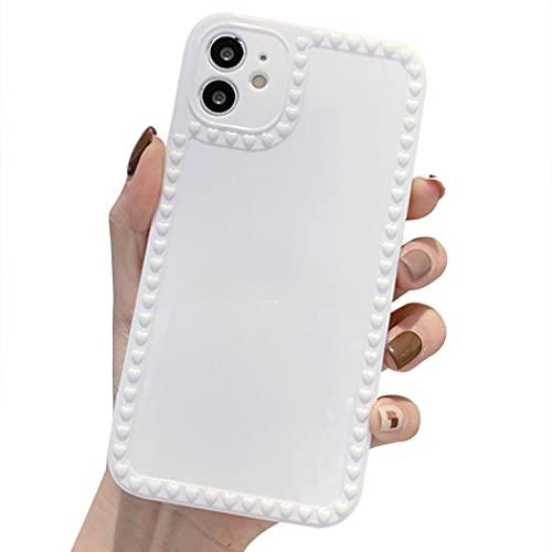 Rokmym Funda compatible con iPhone 12 Mini de silicona, superficie lisa, antiarañazos y antigolpes, funda protectora para iPhone 12 Mini, color blanco