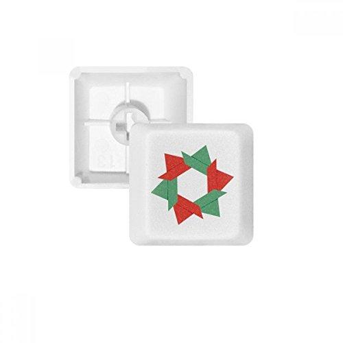 DIYthinker Resumen patrón de Navidad de la Flor de Origami PBT Nombres de Teclas de Teclado mecánico Blanca OEM No Marcado Imprimir
