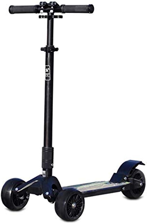 LJHBC Kickscooter 3-Rad-Tretroller für Kinder Kippen und drehen Faltbares Design Geeignet für über 5 Jahre Verstellbare Hhe Leichte Struktur Lager 100kg Nicht elektrisch