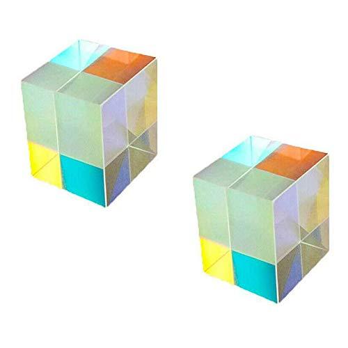 asdfZXCV Glaslichtwürfel Dichroitisches Prisma X-Würfel-Prismen Für Die Fotografische Strahlteilung Fotozubehör Dekorieren Sie Geschenke 2 Stück * 20 * 20 * 20