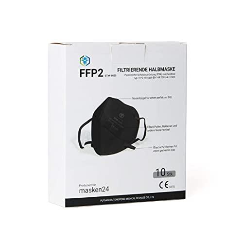FFP2 Maske SCHWARZ - 10 Stück...