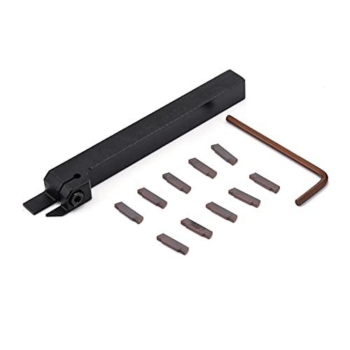 Cortador de fresado de superficie 1 pieza de herramienta de torneado de torno CNC MGEHR1212-2 Titular de herramientas de corte 12x12x100mm Barra de aburrimiento + 10 piezas de MGMN200-G insertado en l