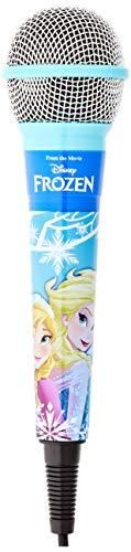 Lexibook- Disney Frozen-Micrófono dínámico con Conector 3,5 mm y Adaptador de 6,3 mm, Ideal para Karaoke MIC100FZ, Colore Blu