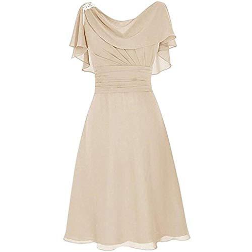 Reooly Gasa vestido de novia para Mujeres 3XL Beige