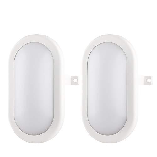 Buitenverlichting van Muren 10W LED-Buitenverlichting, 4000K, 700lm, IP54-Beschermde Waterdichte Wandlamp, Wit - 2 PACK
