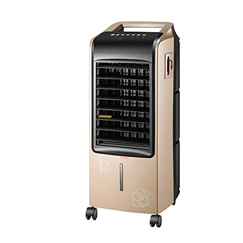 GYF Enfriador Evaporativo,El Ahorro De Energía 3 En 1 Purificador Función Frío Ventilador Control Remoto Multifunción Aires Acondicionados Móviles Calefacción Oro Negro 30.5X39X74.5CM