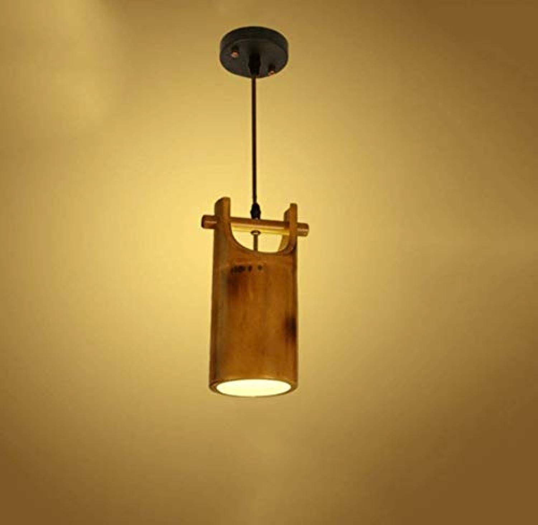 Bambus Deckenleuchte für Schlafzimmer Wohnzimmer Dessert Shop Bar Cafe Kronleuchter Pendelleuchte E27