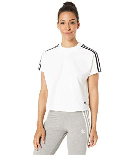 adidas Camiseta Atteetude para Mujer, Mujer, Manga Corta, S1954WID613, Blanco, S