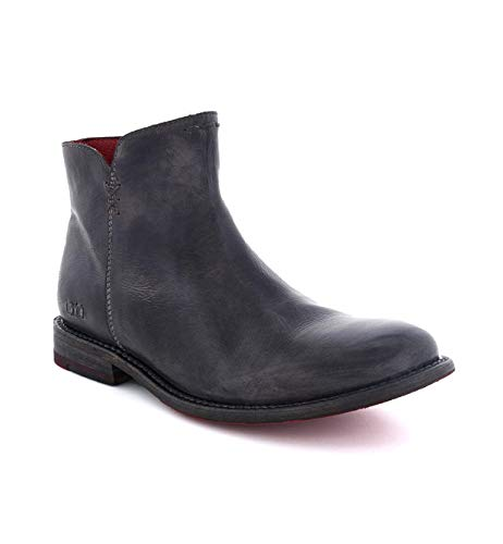 Bed|Stu Yurisa Flat Leather Bootie (BLACK RUSTIC, 8.5)