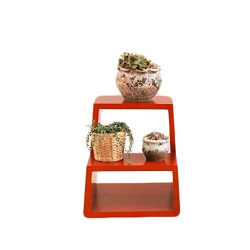DNSJB - Taburete multifuncional de madera maciza para almacenamiento en el hogar, taburete bajo para zapatos, taburete para escalera, cambio de puerta, soporte de flores (color: rojo)