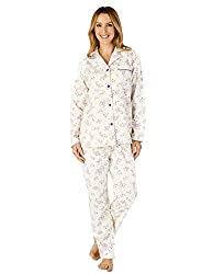 Luxuriously soft brushed cotton pyjama set adorned in a beautiful floral print. Tailored long sleeve shirt with button through front and piped trims to collar and single pocket. Long trousers with comfortable elasticated waist complete this stunning ...