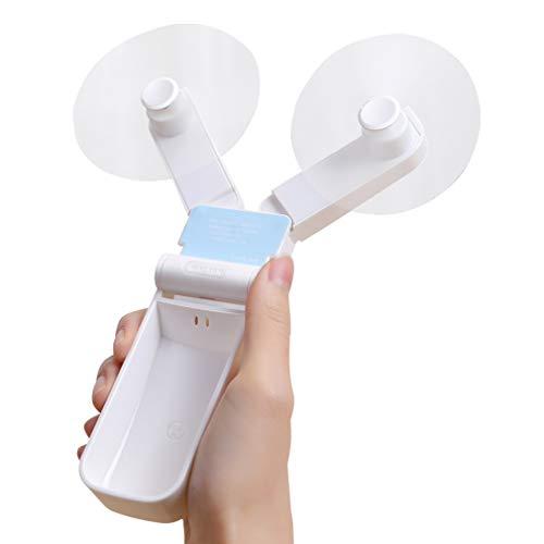 Ronessy Small USB Personal Fan Speed Adjustable Handheld Fan Rechargeable Mini Portable Fan Folding Hand Fan for Kids Girls Women Man Outdoor Travel
