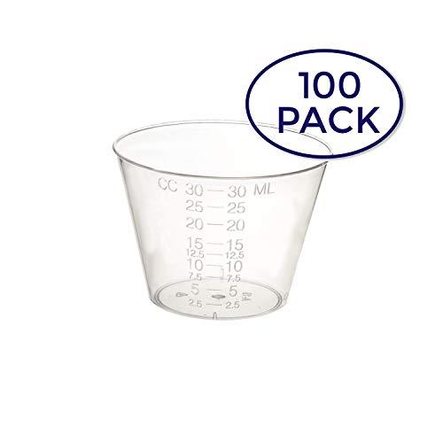 Dynarex 4258 Medicine Cup (Polyethylene), 100 Count, 1 Ounce, Clear