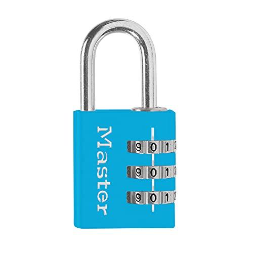 Master Lock (マスターロック) ナンバー可変式南京錠 3桁 630JADBLU ブルー 本体幅32mm シャックル径高さ25mm