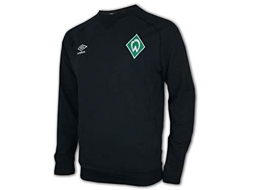 UMBRO Werder Bremen Travel Sweat Top schwarz SVW Sweatshirt Werder Pullover, Größe:L