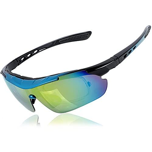 Mifty Gafas De Sol Deportivas Gafas De Ciclismo para Hombres Y Mujeres, Gafas De Visión Nocturna, Gafas De Sol A Prueba De Arena, Ciclismo, Carrera, Voleibol De Playa Y Senderismo (Color : Blue)