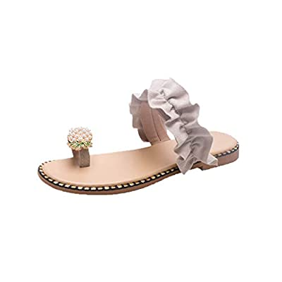 RAINED-Women' Flat Flip Flops Summer Clip Toe Sandals Fashion Students Sandals Beach Shoes Slippers Toe Ring Shoes