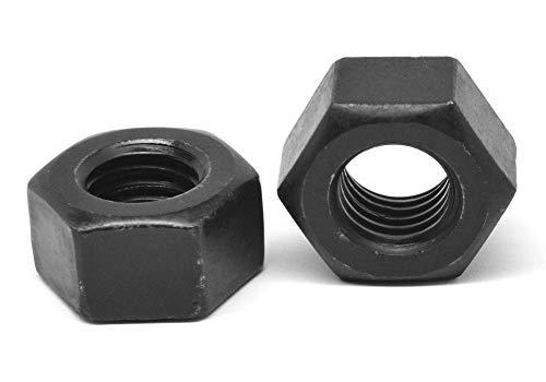 1//2-13 Coarse Thread Hex Jam Nut Low Carbon Steel Yellow Zinc Plated Pk 100
